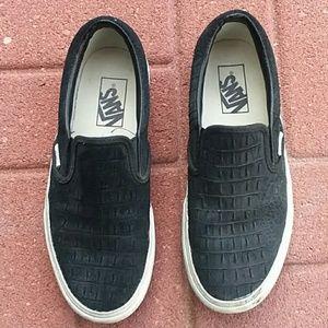 Vans slip on sneakers size 7.5 alligator suede